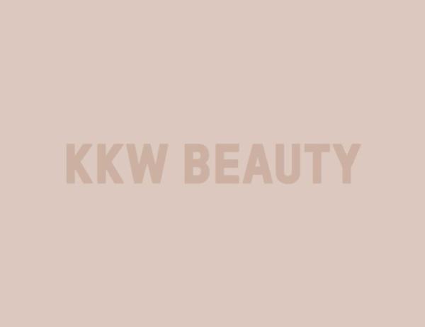 KKW Beauty Logo - Tan Text, Tan Background