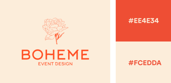 peach and orange logo color combination