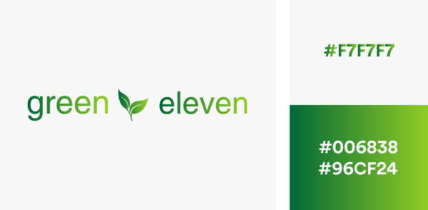 green gradient logo