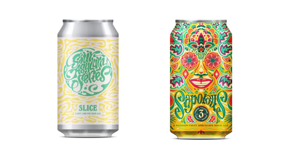 psychedelic beer branding