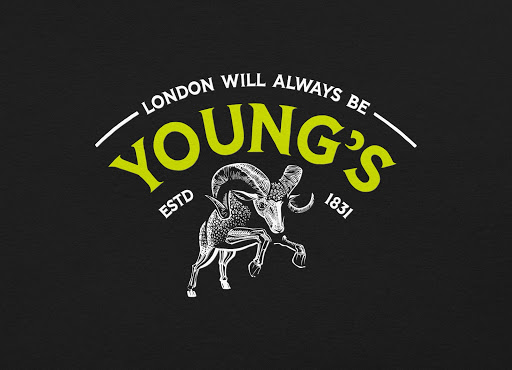 young's retro beer logo