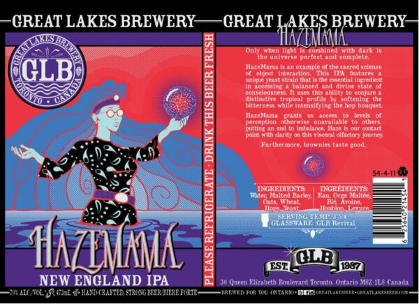 great lakes brewery haze mama design