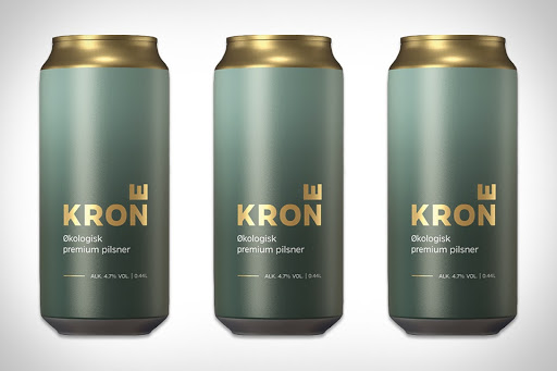 minimal beer can design