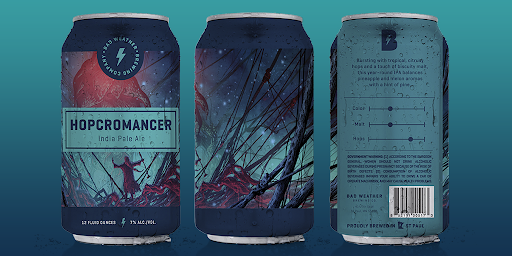 graphic art beer can design