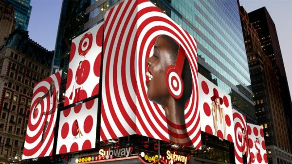 target using graphic design basic of repetition in ads