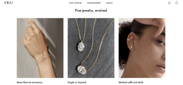 Vrai jewelry branding