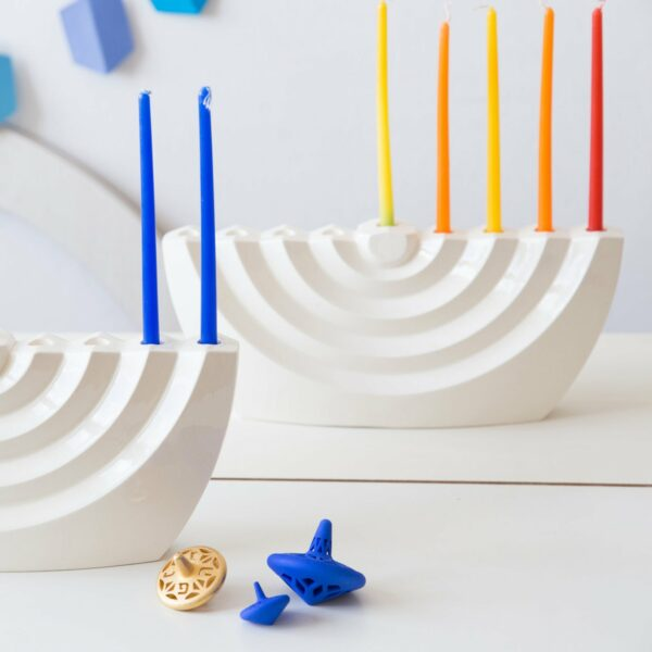 handmade ceramic menorah