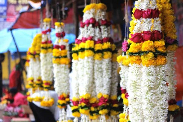 Indian mala floral garland
