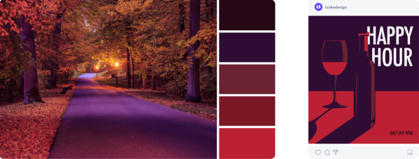 purple and red fall color palette