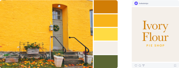 yellow fall color palette