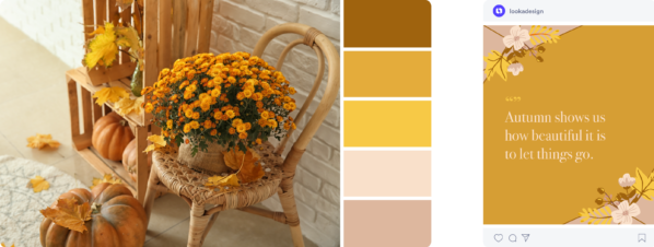gold fall color palette