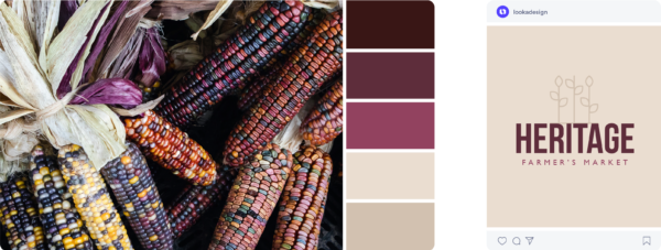 Purple fall color palette