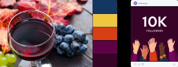 Colorful fall color scheme