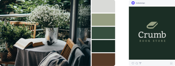 Green fall color scheme
