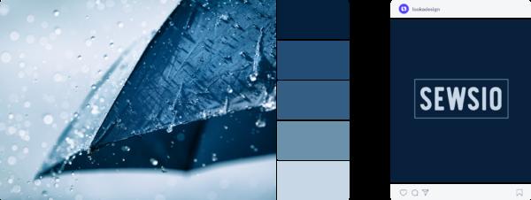 Cold fall colour palette