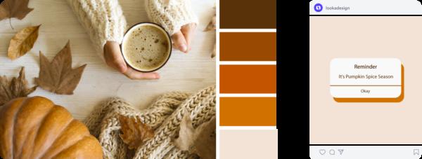 pumpkin spice color palette
