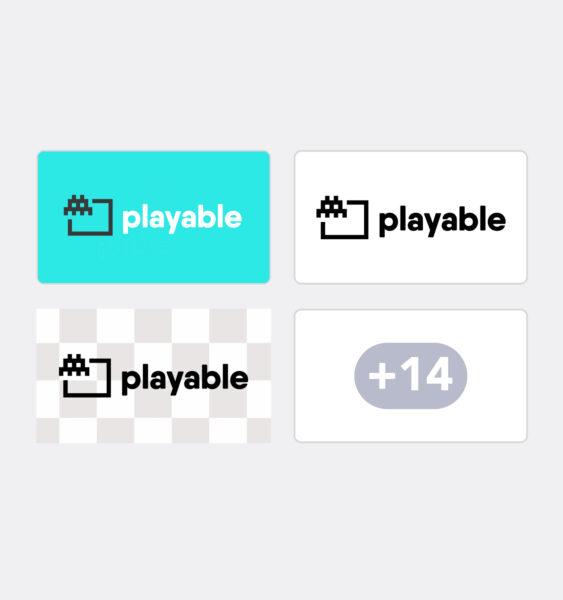 playable logo styles
