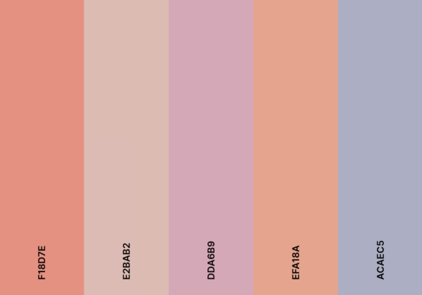 pink aesthetic color palette