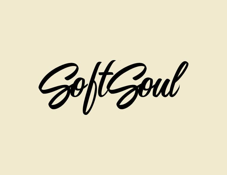 wordmark logo with script font