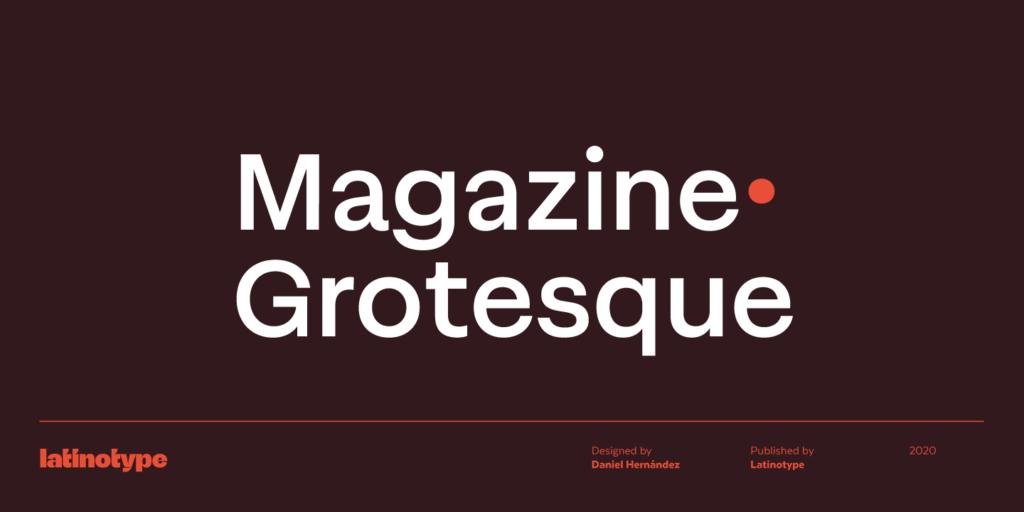 Magazine grotesque font trend 2021