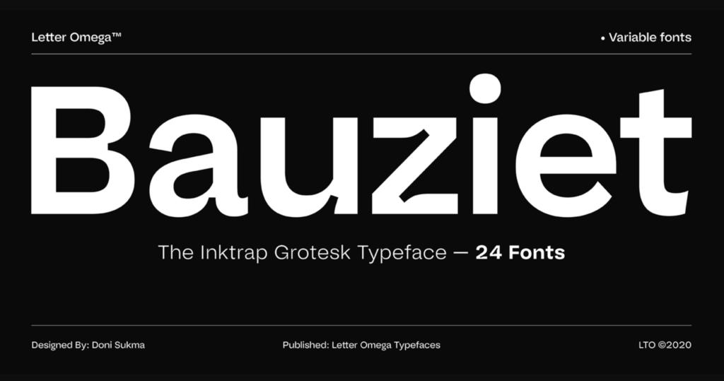 Bauziet grotesk font