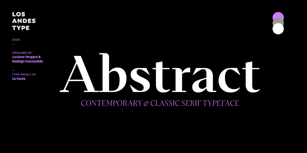Abstract font 2021