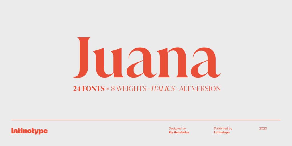 Juana font 2021