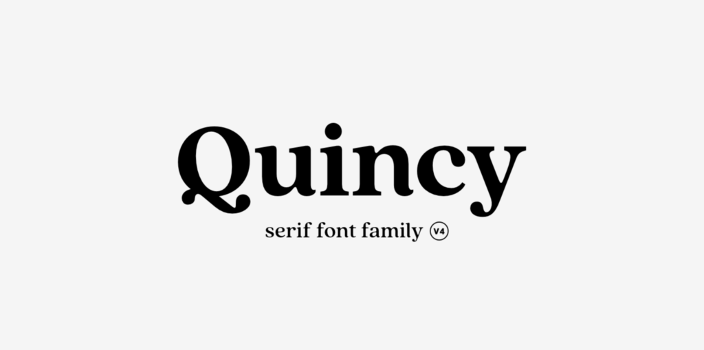 Quincey new font 2021