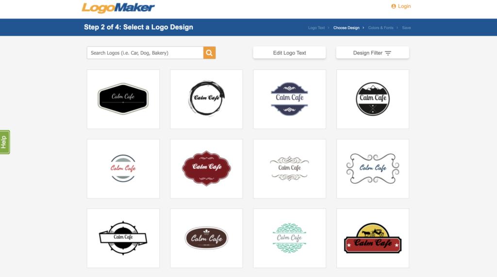 logomaker.com logo templates