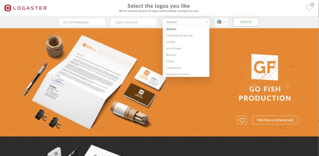 Logaster logo maker online