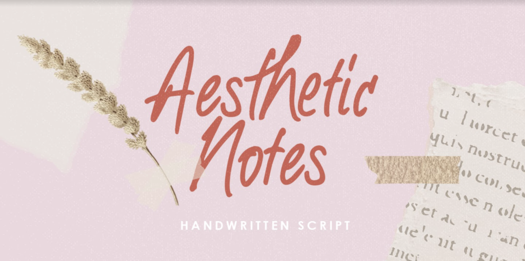 Aesthetic Notes scripted notes