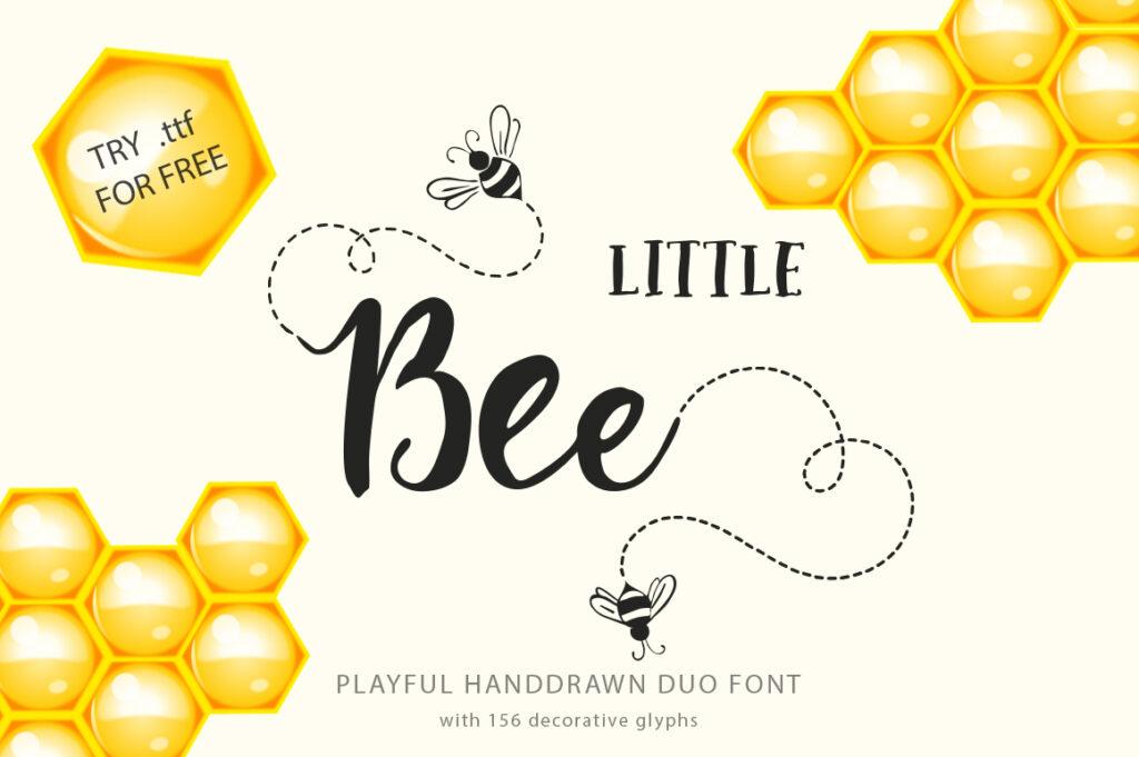 Little bee brush font 2021