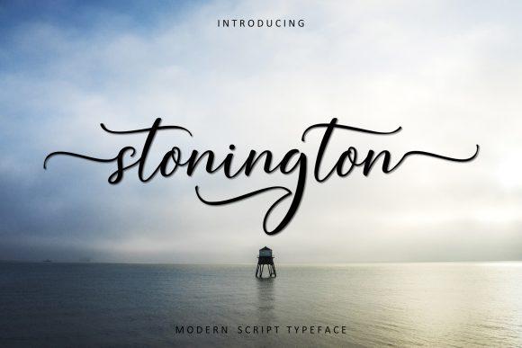 Stonington script font
