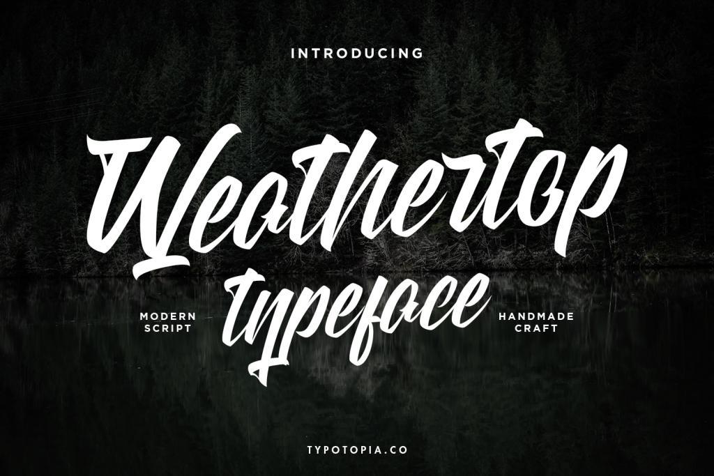 weathertop logo font