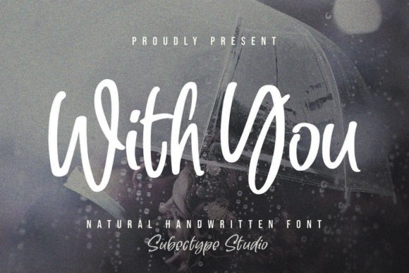 With You script font