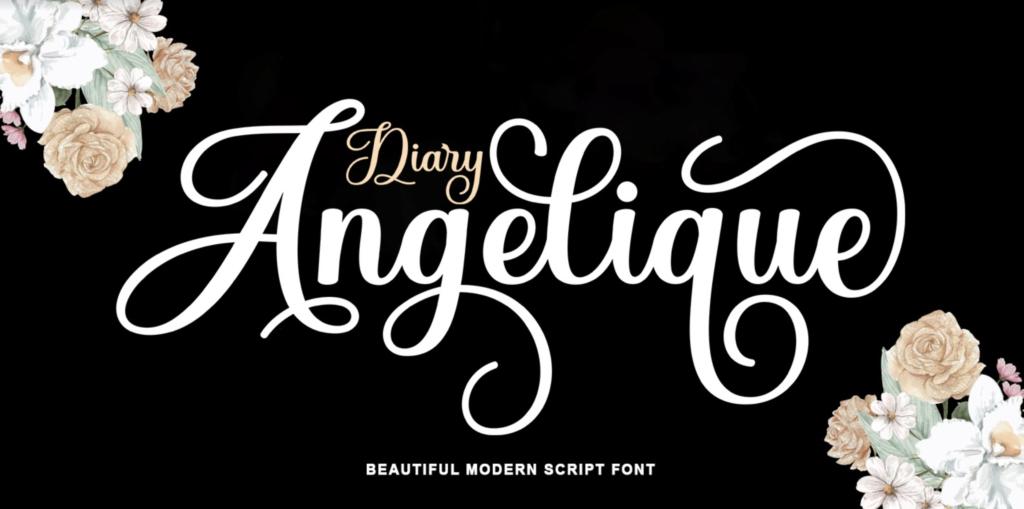 Diary Angelique Script cursive font 2021