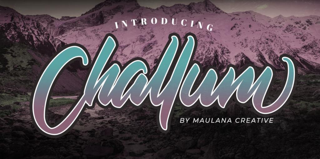 Challum script font 2021