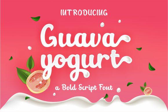 Guava yogurt script font 2021