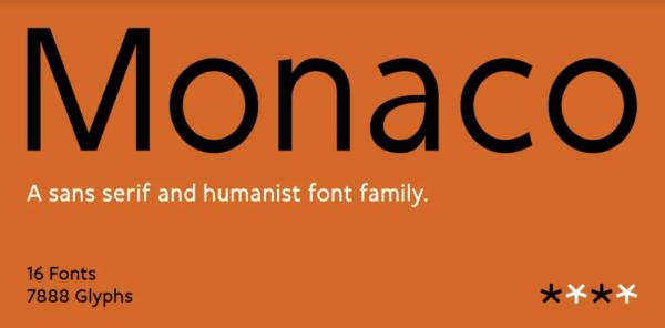 monaco sans serif font 2021