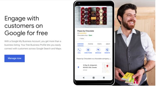 google business landing page