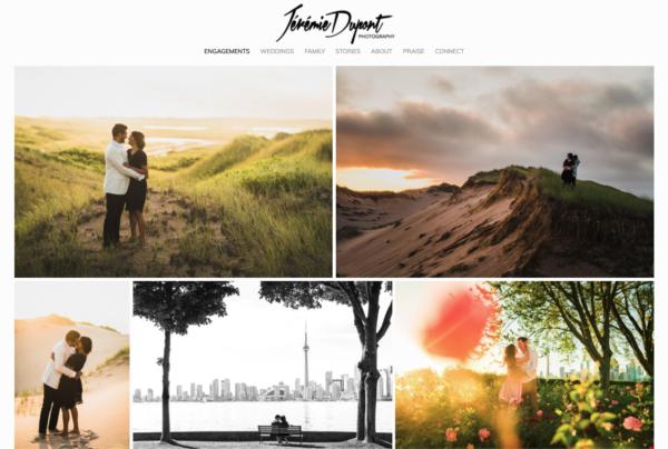 jeremie dupont professional photography website