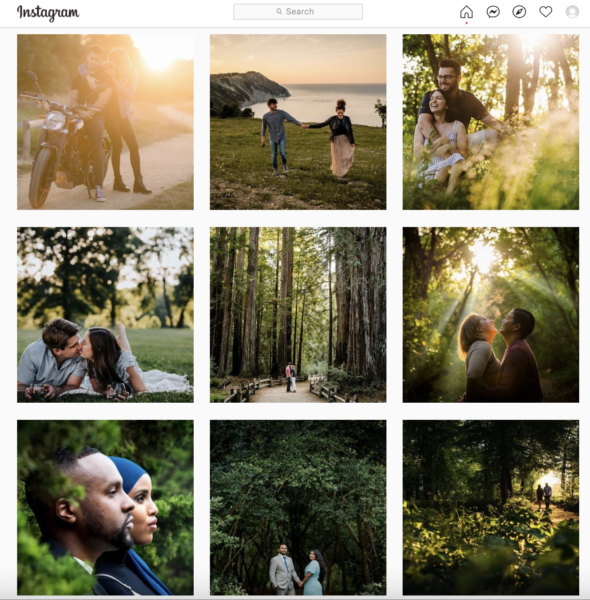 instagram of engagement photography