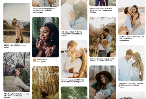 pinterest board for engagement photography