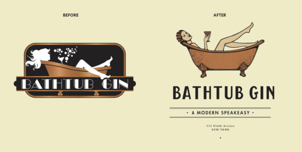 bathtub gin rebranding