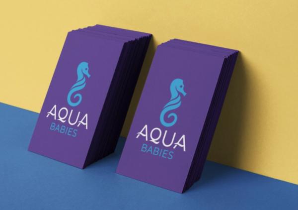 aqua babies branding example logo geek