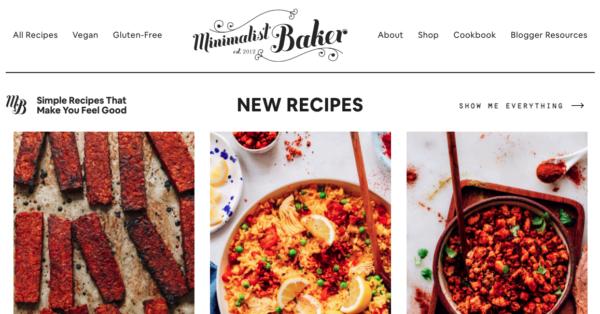 minimalist baker food blog name ideas
