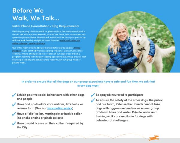 vetting dog walking clients