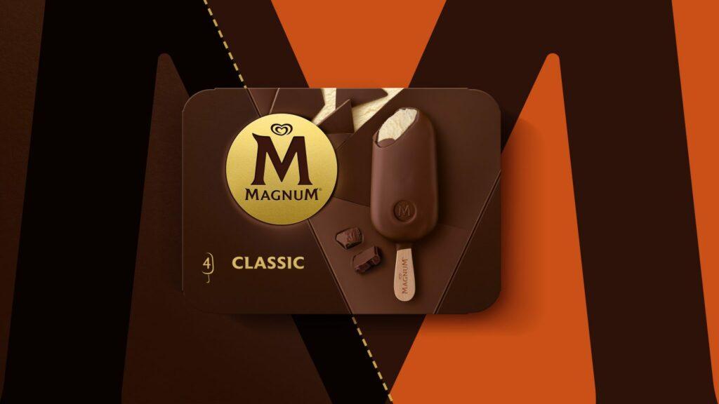 magnum ice cream rebrand