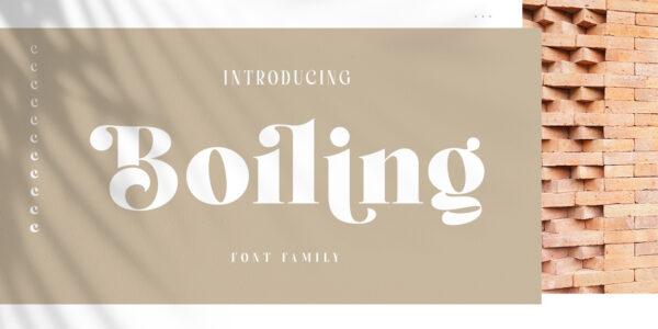 boiling serif font
