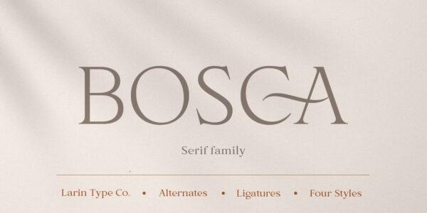 bosca serif font